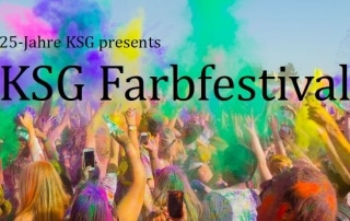 Am 6. Juli findet das KSG Farbfestival statt.